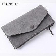 Матовый кожаный женский кошелек сумка на молнии винтажный Женский кошелек сумочка модный держатель для карт, карман для телефона длинный женский кошелек B333