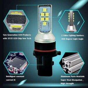 Image 4 - 2PCS P13W 12 SMD 3535 Pure White LED Car Bulb DRL Fog Light Auto Daytime Running Lights Driving Lamp 12V 24V 6000K