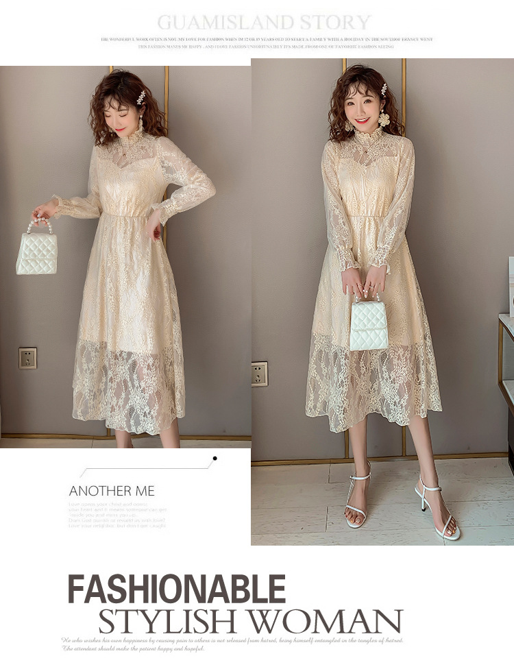 2020 Maternity clothing summer twinset lace maternity one-piece dress white embroidery maternity dress For Pregnant (12)