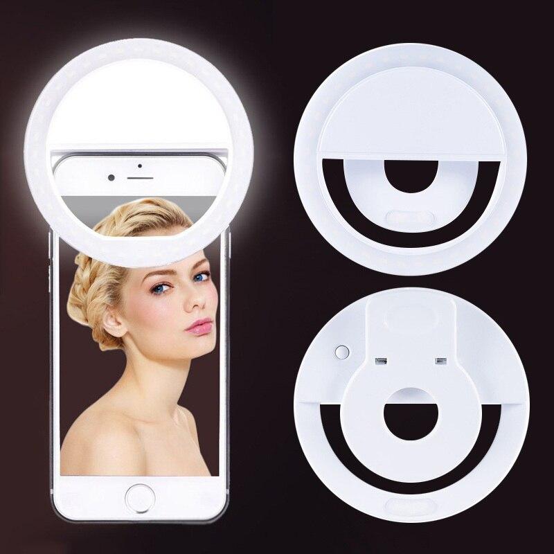 Кольцевой светодиодный светильник для селфи с USB-зарядкой