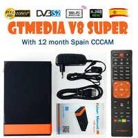 Gtmedia v8 nove receptor de tv por satélite bult-in wifi + 2 ano europa cline completo hd DVB-S2/s freesat v8 nova receptor espanha armazém