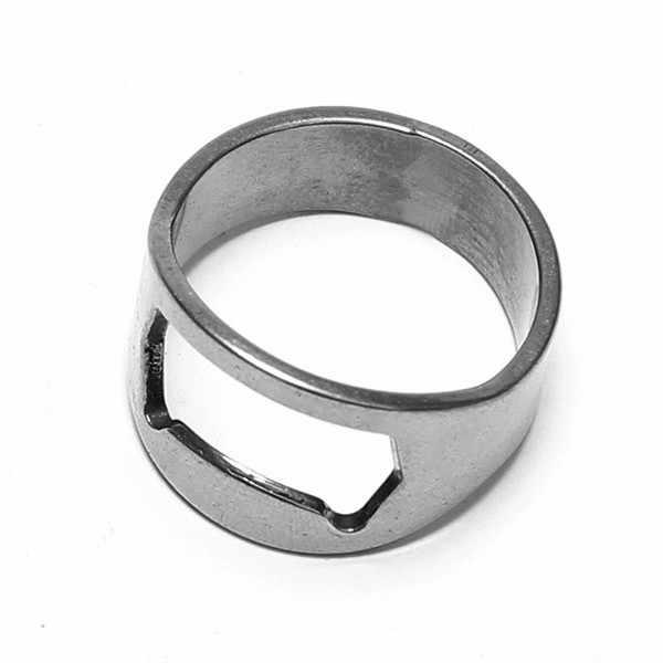 1 pieza de alta calidad creativo de acero inoxidable anillo de dedo abridor de botellas de cerveza herramienta de barra abridor de anillos