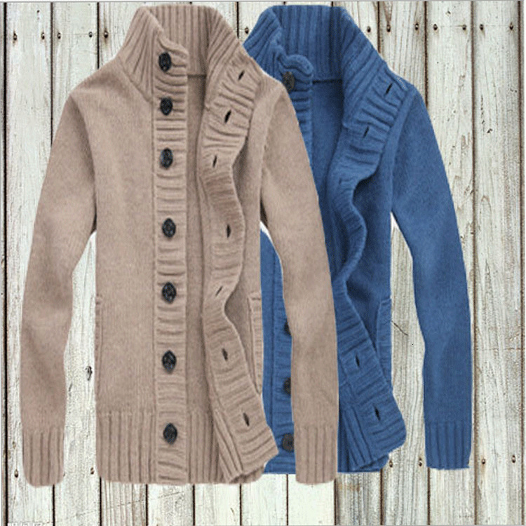Men Sweater, 2019 Pure Color Sweater More Young Men Knit Coats From Cultivating One's Moral Masters Coat