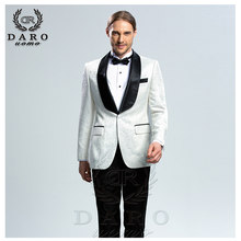 DARO 2019 New Men Suit 3 Pieces tuxedo Slim Fit blue grey white for Wedding Dress Suits Blazer Pant and Vest DR8859(China)