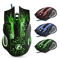 Gaming Mouse Computer Game Mouse Ergonomic Gamer Mouse Silent Wired Mice Optical USB backlit PC Mause  5000DPI For Laptop|Mice| |  -
