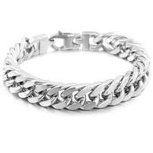 GOKADIMA Stainless Steel Bracelet Men Jewelry Link Cuban Chain PUNK ROCK Biker gift for pulsera hombre