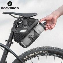 Rockbros saco de sela da bicicleta mtb bicicleta ferramenta traseira saco noite selim reflexivo ciclismo estrada assento traseiro saco da cauda acessórios da bicicleta