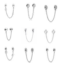 2021 novo 925 prata esterlina corrente de segurança cão pata avião diy contas caber pandora encantos originais prata 925 para jóias femininas