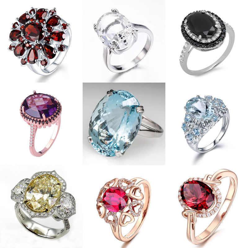 MENGYI جديد روز الذهب الأحمر زركونيا خواتم للنساء الزفاف خاتم مجوهرات الأزياء والمجوهرات بالجملة هدايا اكسسوارات متعددة الخيار