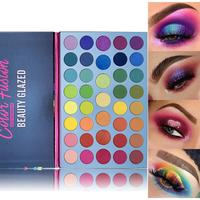 Beauty Glazed Eyeshadow Palette 39 Color Waterproof Matte Shimmer Eye Shadow Pallet Over the Rainbow High Pigment Makeup Palette