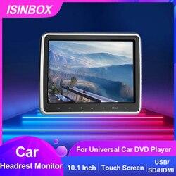 10,1 дюймовый автомобильный монитор на подголовник, Dvd-видеоплеер с сенсорным экраном 1024*600, внешний автомобильный монитор, DVD-плеер USB/SD/HDMI/IR/FM