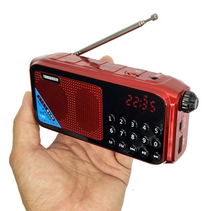 T-889 Digital FM Radio 70~108 MHZ Wide Frequency Range Receiver Clock TF USB Music Player Speaker Support 2 18650 Battery