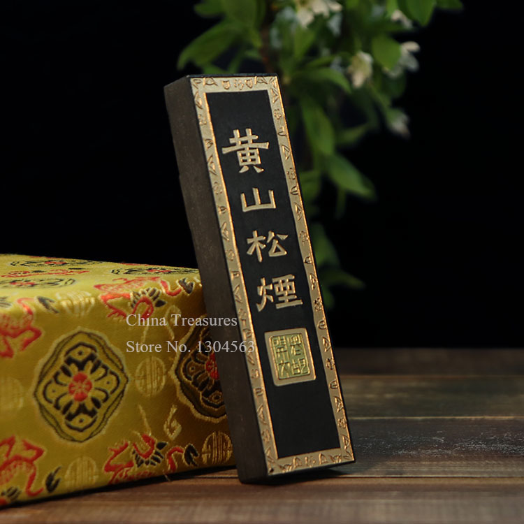 Traditional Chinese Solid Ink Stick Sumi-e Ink Inkstick calligraphy Painting ink Hui mo Huang Shan Song Yan black color