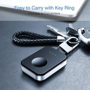 Image 3 - KISSCASE oryginalna bezprzewodowa ładowarka do kluczy Apple i Watch 1 2 3 4 950 mAh przenośna ładowarka bezprzewodowa Power Bank do zegarka