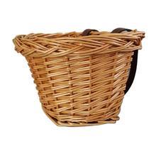 Childrens Bicycle Basket Rattan Natural Waterproof Storage Multifunctional Box Wicker