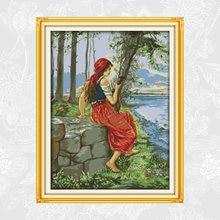 Картина для вышивки крестиком 11ct 14ct на холсте наборы ручная