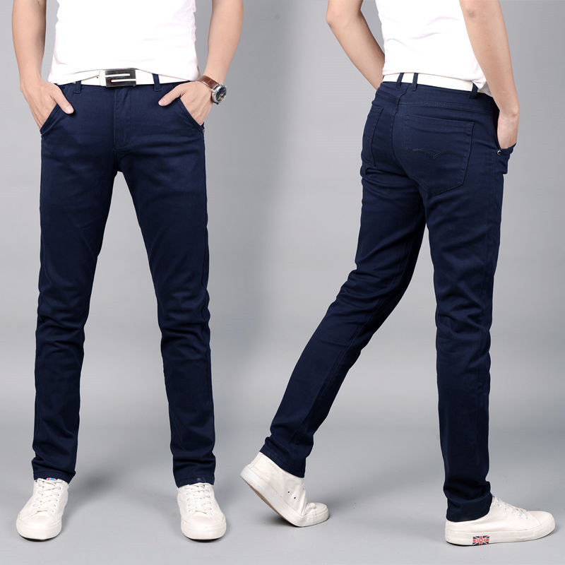 New Mens Pants Fashions Men 2019 Summer Casual Pants Male Slim Breathable Pants Straight Loose Casual Trousers Cotton Suit
