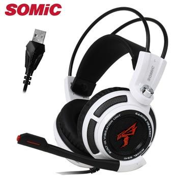 Игровые наушники 7,1 звук над ухом вибрационная гарнитура наушники USB с микрофоном компьютера оригинальный подлинный бренд Somic G941