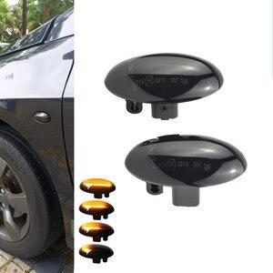 Image 1 - Sıralı yanıp sönen LED dönüş sinyali yan işaretleyici ışık Citroen C1 C2 C3 C5 C6 Jumpy Peugeot 307 206 için 207 407 107