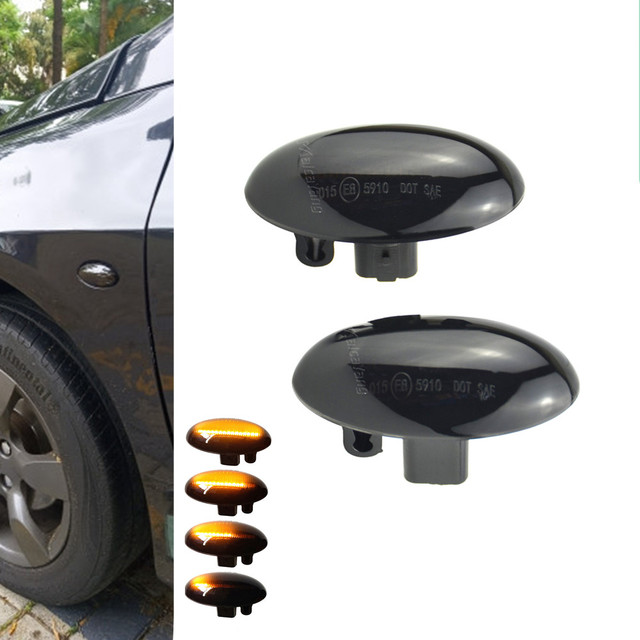 Sequential Flashing LED Turn Signal Side Marker Light For Citroen C1 C2 C3 C5 C6 Jumpy For Peugeot 307 206 207 407 107