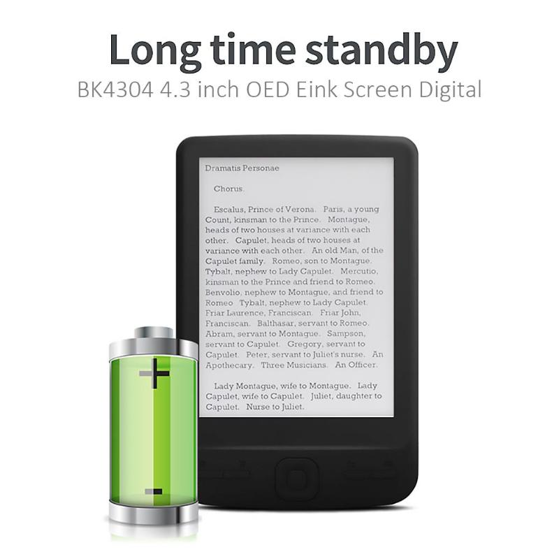 4.3 inch E-Ink Ebook Reader LCD Smart E-reader 4/8/16GB Memory Electronic Book HD Digital E-book Multi-language Support(China)