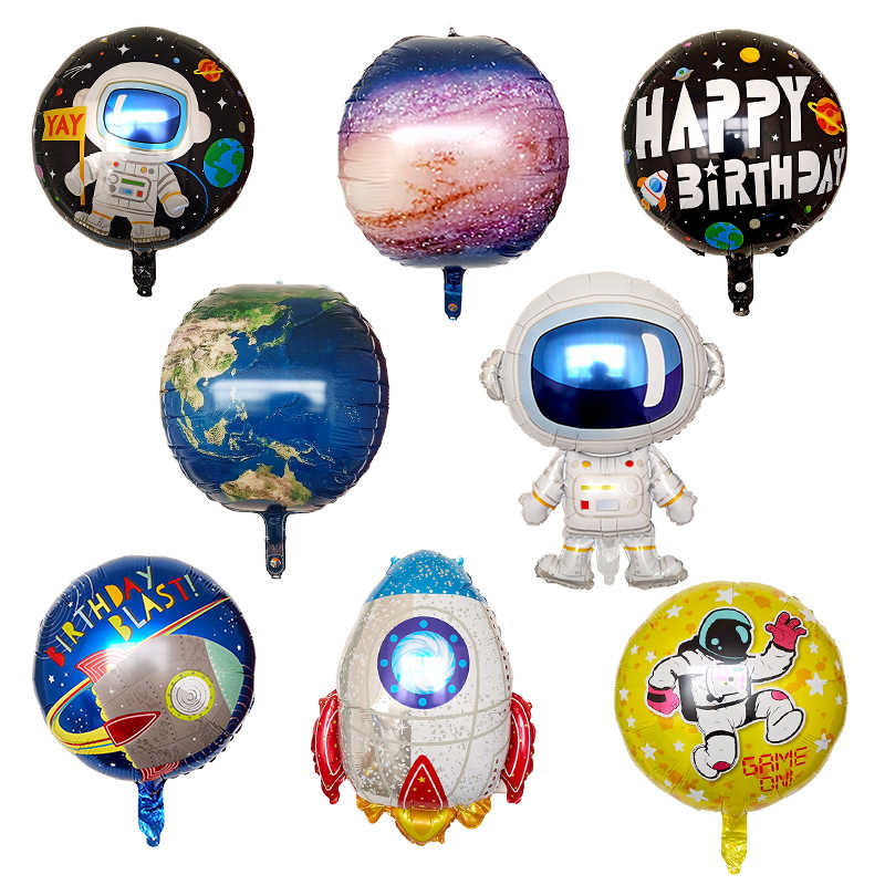 Astronauta balony Rocket balony foliowe Galaxy Theme Party Boy Kids Birthday Party Decor sprzyja helem globals 4.8 1785 opinii