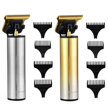 Hair-Trimmer Carving-Machine Barber Lcd-Display T-Blade 0mm Mini Titanium USB Quick-Charge