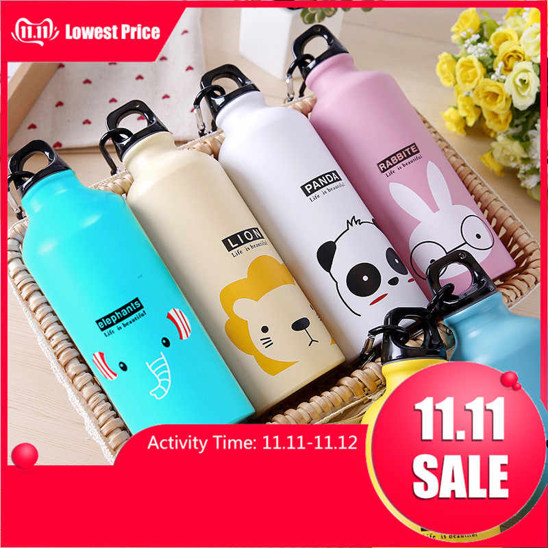 500ml Cute Water Blttle Lovely Animals Outdoor Portable Sports Cycling Camping Hiking Bicycle School Kids Water Bottle