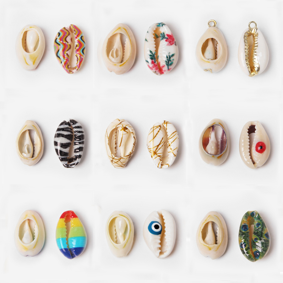 10pcs 12-18MM Natural shell beads connector charm pendant for jewelry making finding earring neckalce bracelet Accessories Diy