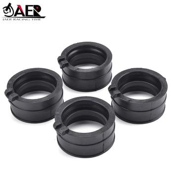 цена на JAER Motor Carburetor Interface Adapter Intake Manifold Pipe Rubber Clamp For Honda 16211-MV9-670 CBR600 CBR 600 F2 F3 1991-1998