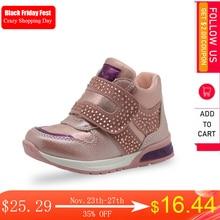 Apakowa בנות אביב סתיו הליכה קרסול מגפי פעוט ילדי של ריינסטון נעליים יומיומיות תינוק בנות נעלי אופנה עם רוכסן