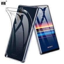 Dla Sony Xperia 5 1 10 II Slim Crystal przezroczysty miękki TPU Back Case ochrona skóry aparat ochrony pokrywy