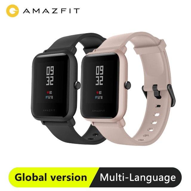 Amazfit smartwatch bip lite, versão global, leve, resistente à água até 3atm, com 45 dias de modo de espera, gps