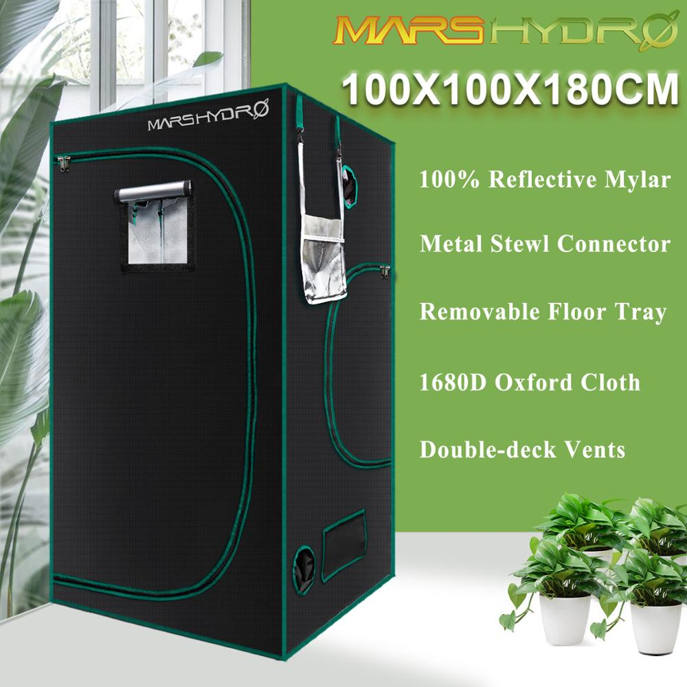 Marshydro Grow-Tent Completely LED Indoor-Growing-System 1680D 100--100--180cm