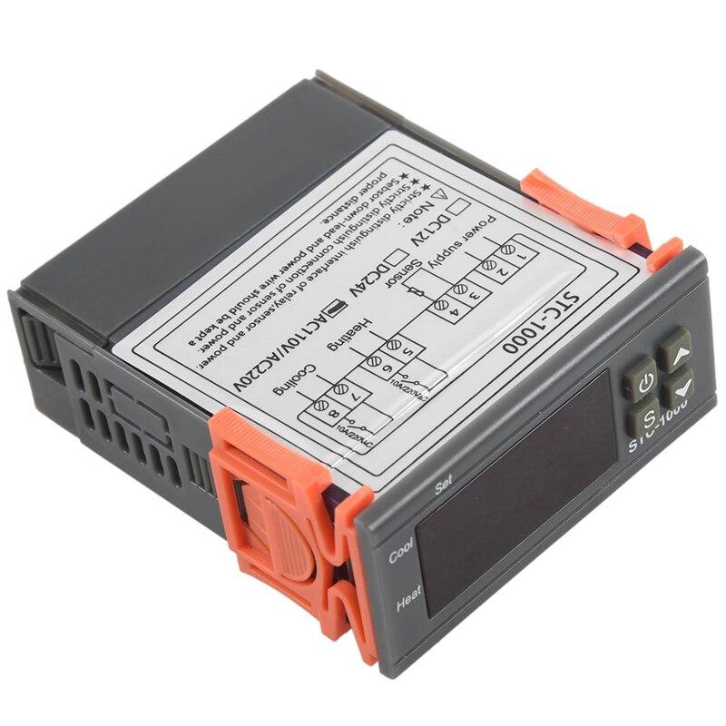 AC 220V Universal STC-1000 Digital Temperature Controller Thermostat w// Sensor