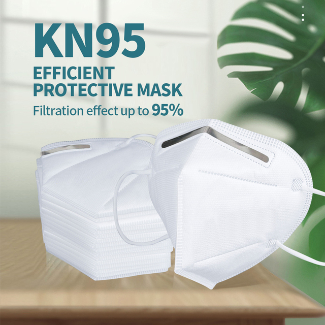 KN95 Mask with Valve Safety Protective Mask PM2.5 N95 Fliter Anti Dust Pollution Earloop Face Mask Flu Respirator as KF94 9502v 4