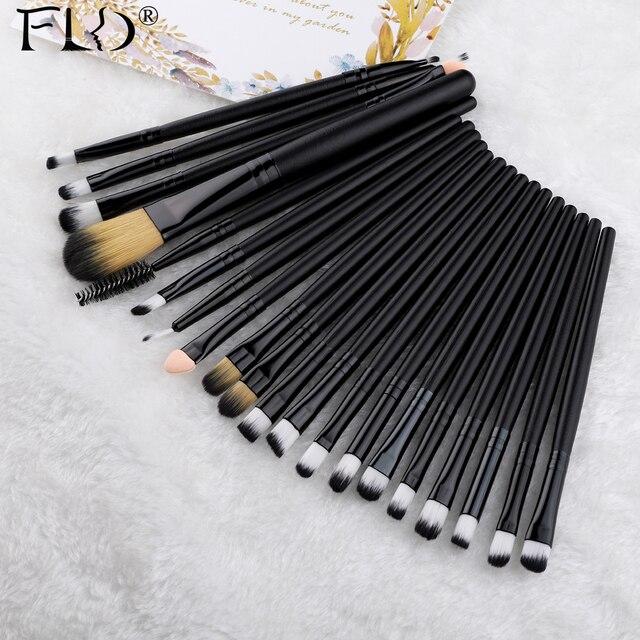 FLD 20 Pieces Makeup Brushes Set Eye Shadow Foundation Powder Eyeliner Eyelash Lip Make Up Brush Cosmetic Beauty Tool Kit