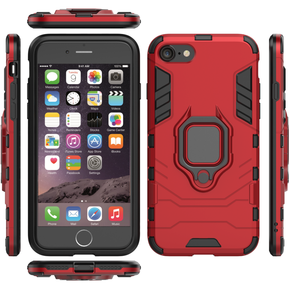 Batman Armour Phone <font><b>Case</b></font> For <font><b>iPhone</b></font> SE2020 6 <font><b>7</b></font> 8 10 11 <font><b>Plus</b></font> X Xs Max XR Pro Shockproof Armor Tough Cover <font><b>with</b></font> Finger <font><b>Ring</b></font> <font><b>Holder</b></font> image