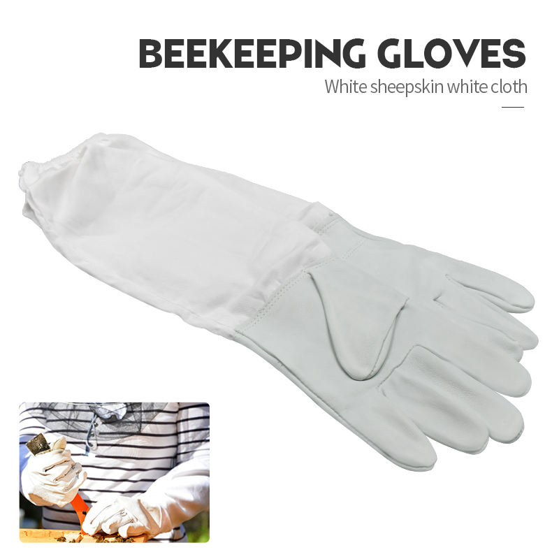 1Pair Beekeeper Prevent Gloves Sheepskin Protective Sleeves Thin Soft Anti Bee Apiculture Tools Beekeeping Equipment