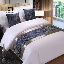 RAYUAN Polyester Navy Floral Bedspread Double Layer Bed Runner Bedding Single Queen King Bed Cover Towel Protector(China)