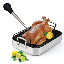 Набор для приготовления курицы, индейки, Бастер с иглой для инъекций, чистящая щетка для мяса, барбекю, пищевого аромата, Бастер, трубка шприца, труба 30 мл