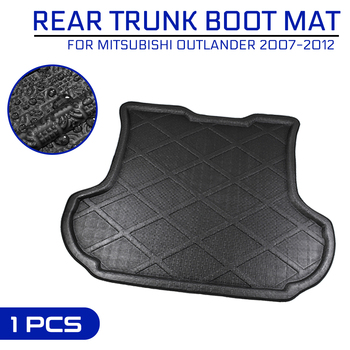 Car Floor Mat Carpet For Mitsubishi Outlander 2007 2008 2009 2010 2011 2012 Rear Trunk Anti-mud Cover image