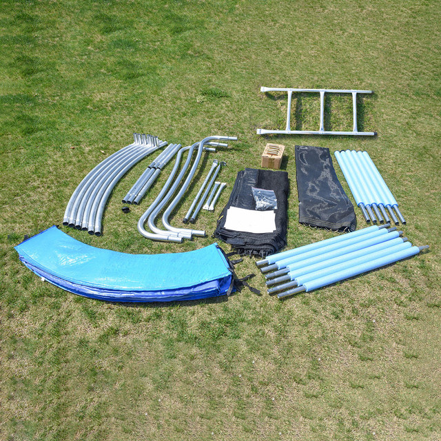 12 FT Trampoline With Large Safety  6