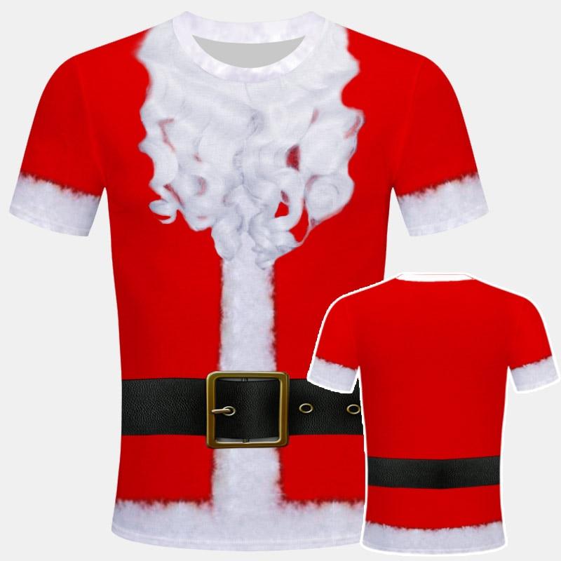 Santa Claus 2019 New Funny 3D Print T Shirt Christmas Tshirt Men Short Sleeve Tees O-neck Tops Nightmare Before Christmas Unisex