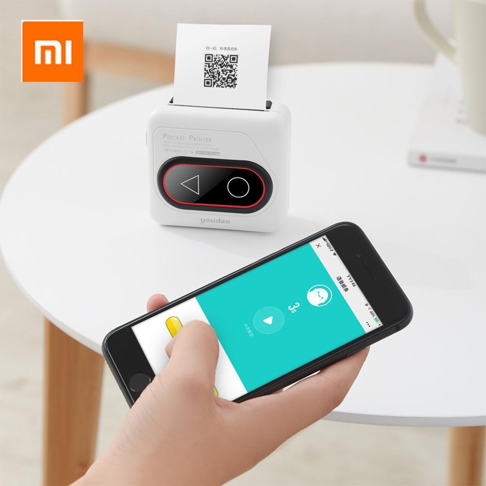 Xiaomi Mijia Youdao MEMOBIRD G4 Pocket Printer Portable Thermal bluetooth HD 306dpi Mini Wireless Thermal Picture Photo Printer|Smart Remote Control| |  -