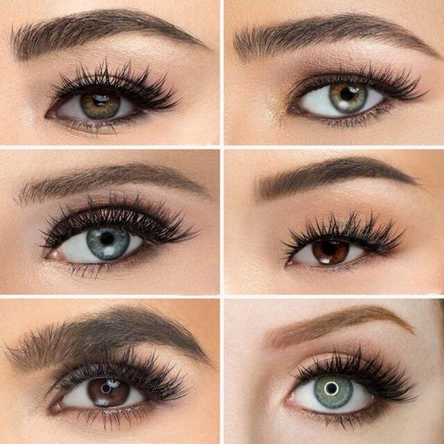 Natural silk eyelashes fake lashes long makeup 25mm eyelash for beauty 2
