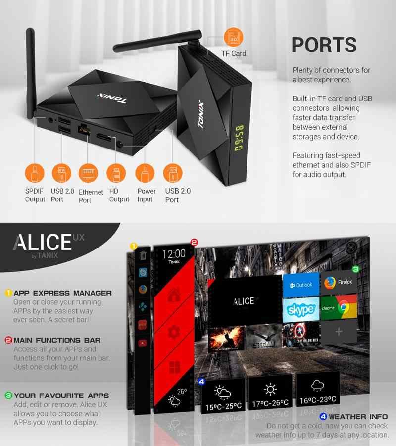 TX6S Tanix アンドロイド 10.0 テレビボックス H616 チップ TX6 4 ギガバイト 64 ギガバイトのスマート TV ボックスメディアプレーヤーデュアル無線 Lan bluetooth 8 4K テレビセットトップボックス