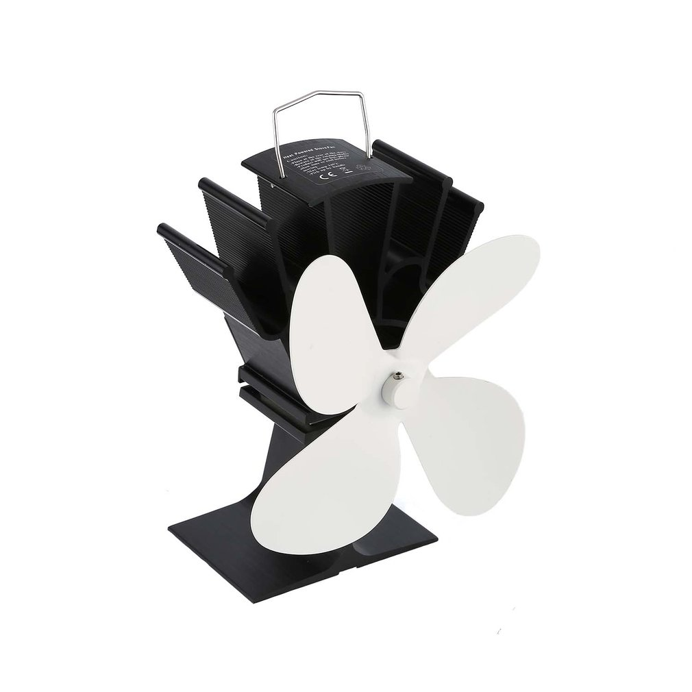 Heat Powered Stove Fan Home Fireplace Eco Friendly Four-leaf Fans Ultra Quiet Wood Stove Fan Fireplace Fan
