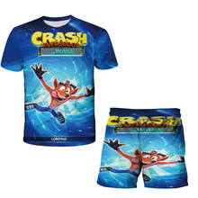 3d Children's suit Summer Clothes 2021T-Shirt Children Boys Clothes Toddler Youth Girls Outfit Clothing Short Tops Hot Sale Suit