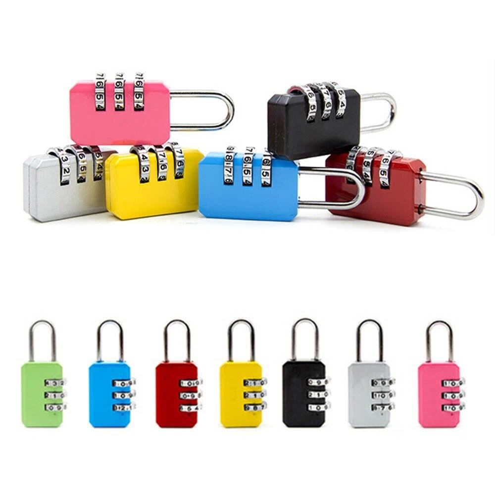 6 цветов 3 цифры Циферблат номер кода пароль Комбинации замок Малый Портативный путешествия Чемодан мешок с застежкой-молнией чемодан с вис...